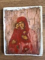 Nagyon régi fára festett ikon