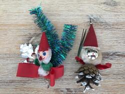 Két régi manó karácsonyfadísz