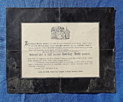 1907 Pozsony, Nedeczai alsó és felső Ruttkói Ruttkay Teréz urnő gyászjelentése