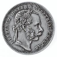 Ezüst Ferenc József Koronázási zseton Ritka 1867 20 mm 3,3 gramm