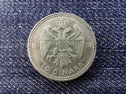 Jugoszlávia I. Sándor (1921-1934) .500 ezüst 10 Dínár 1931 / id 13933/
