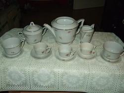 Zsolnay teás kávés vegyes pajzs pecsétes