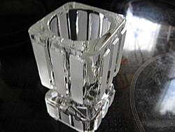 Art deco tömör  üveg  gyertyatartó