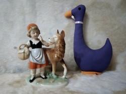 19149C6 Grafenthal porcelán Piroska és a farkas