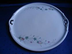 38 cm-es, antik, Haas&Czjzek Schlaggenwald porcelán tálca/tál
