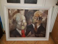 60x80+gyönyörű keret, Makkai László festménye