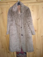 m-es kb 40-es láma  szőrme és mohair kabát, női télikabát