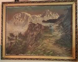 Friedrich Wisternigg: Alpesi táj