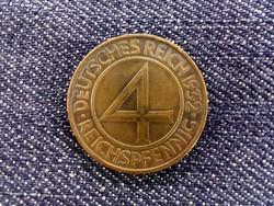 Weimari Köztársaság 4 reichspfenning 1932 A / id 2935/