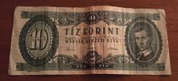 1962-es 10 forintos bankjegy