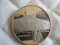 Svájci ezüst tallér 1971 érme 28gr - 0.835ag Schafhausen