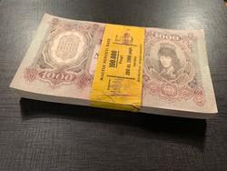 *** 1943-as 1000 pengő eredeti bontatlan banki köteg !!!!  ***