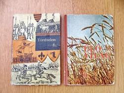 Régi történelem és élővilág tankönyv(ek) egyben - 6. osztály, 1974