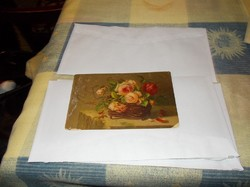 Nagyonszép virágcsendélet képeslapon 1918-ból