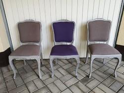 Barokk szék,  szövet kárpittal Felujított!