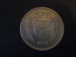 Svájc 5 Frank 1981