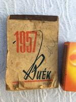 1957 zsebnaptár - naptár - Szakácskönyv recept könyv