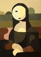 --- PETŐ CSENGE:In The footsteps of Mona Lisa  80x60!!!....----