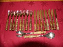 A07 WMF cromargan fanyelű evőeszközök