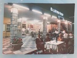 Régi retro képeslap 1969 Balatonfüred Utasellátó