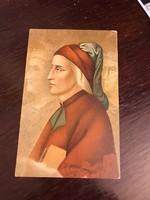 Dantét ábrázoló képeslap