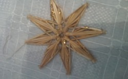 Régi szép  dísz csillag 11 cm