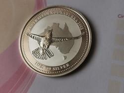 2002 Ausztrál kookaburra 31,1 gramm 0,999 Ritka
