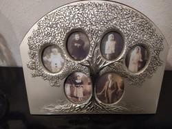 Családfás ezüst fényképkeret