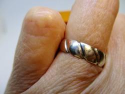 Különleges mintás ezüst gyürü