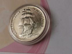 1973 USA hajós ezüst érme 31,1 gramm 0,999