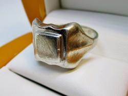 Különleges antik ezüst pecsétgyűrű
