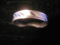 N3 vésett mintás ezüstözött gyűrű ritkaság eladó