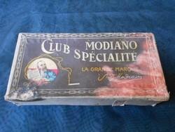 1920-as évekből Modiano Club cigaretta eredeti dobozában,zárjeggyel. Gyűjtői darab