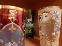 Antik szecessziós poharak