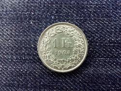 Svájc .835 ezüst 1 Frank 1964 B / id 13945/