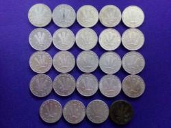 20 Fillér évszám sor - '47, '53, '64, '68, '69, '70, '73-'90 / id 3349/