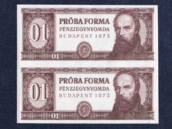 2 db Táncsics Mihály próbaforma alapnyomat bankjegy 1973 / id 13122/