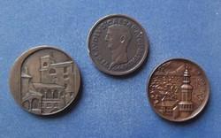 3 db érem - Sárospatak, Sopron, Szombathely