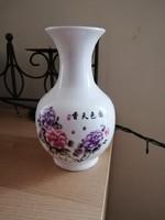 Keleti porcelán váza 15,5 cm
