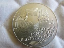 Osztrák Ausztria 100 shilling ezüst érme  24gr - 0.6400ag 1979