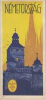 NÉMETORSZÁG idegenforgalmi kiadvány 1930as évek