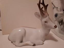 Zsolnay porcelán őz figura