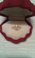 Antik 1.10 karátos Brillgyűrű