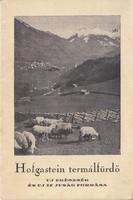 HOFGASTEIN  termálfürdő / idegenforgalmi kiadvány, 1930as évek