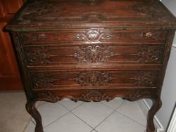 Gyönyörű 100 éves, antik barokk íróasztal,szekreter !