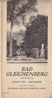 Bad Gleichenberg / idegenforgalmi kiadvány, fürdőhelyi ismerttető,1930as évek