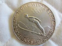 Osztrák Ausztria 50 shilling ezüst érme  20gr - 0.900ag  1964