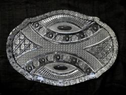 Art deco ólomkristály tálca, 1920-as évek, hibátlan