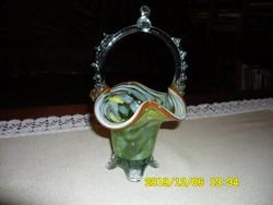 Muránói gyönyörű üvegkosár