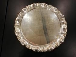 32 cm-s antik ezüsttálca 558 gr.